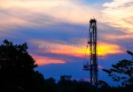 Sunset Behind Rig